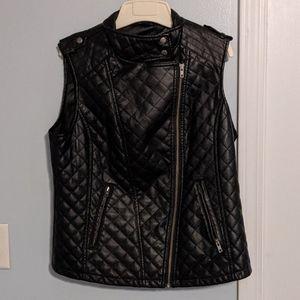 Black pleather vest by Apt. 9